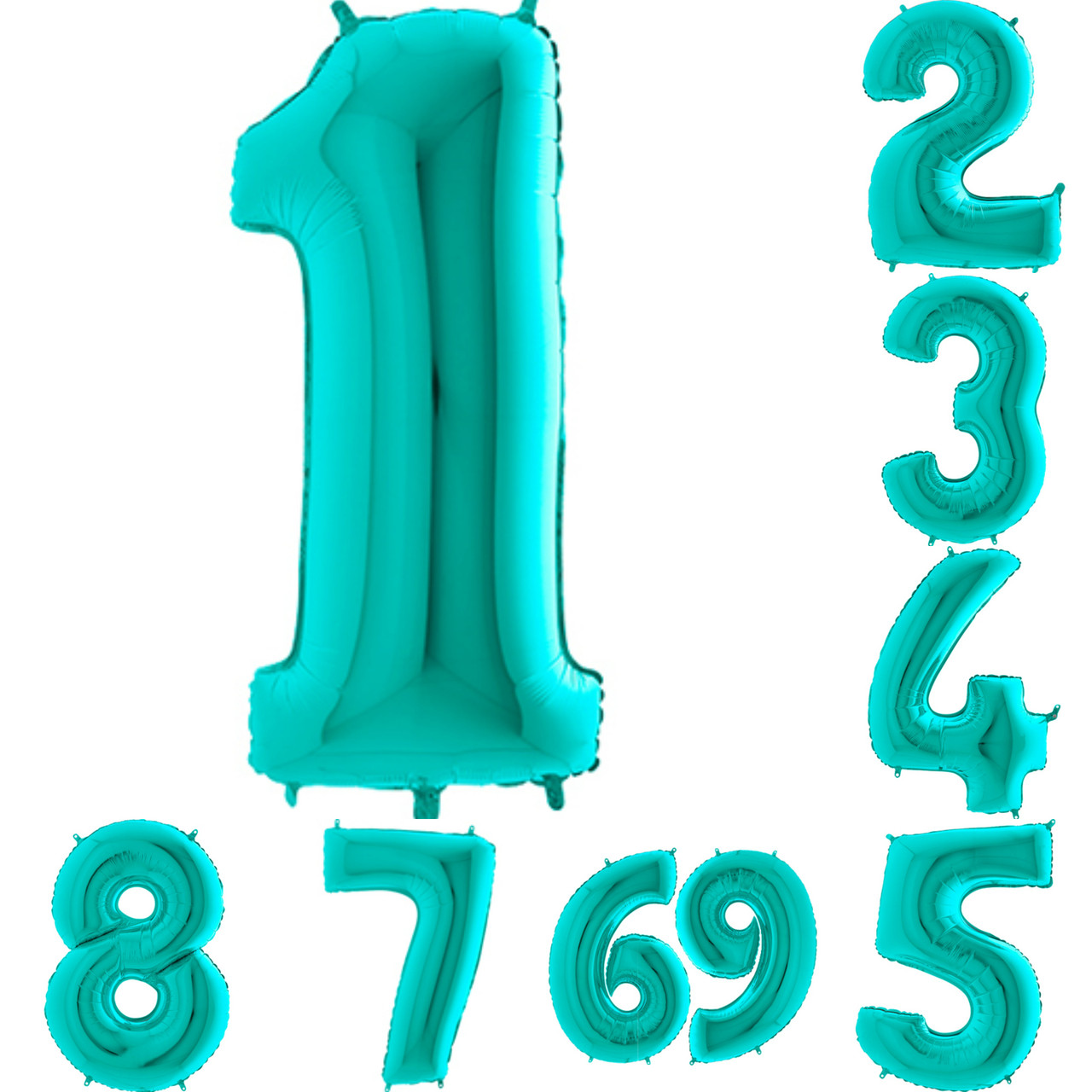 Цифры цвета Тиффани